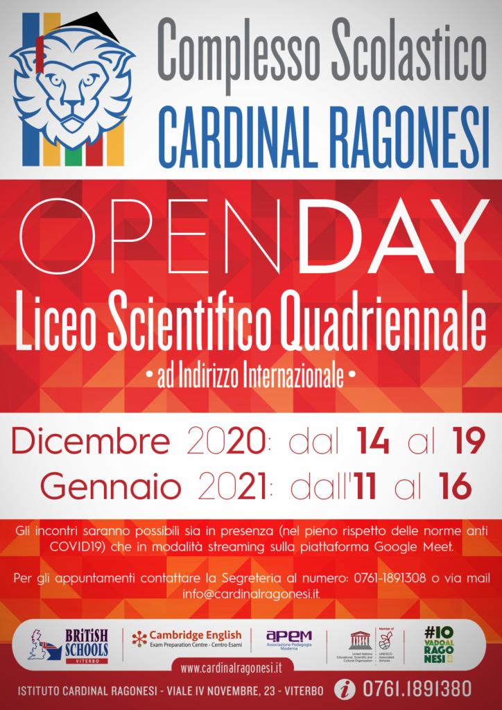 1 OPENDAY RAGONESI SCIENTIFICO 2020 724x1024 - OPENDAY - Liceo Scientifico - Dicembre 2020 e Gennaio 2021