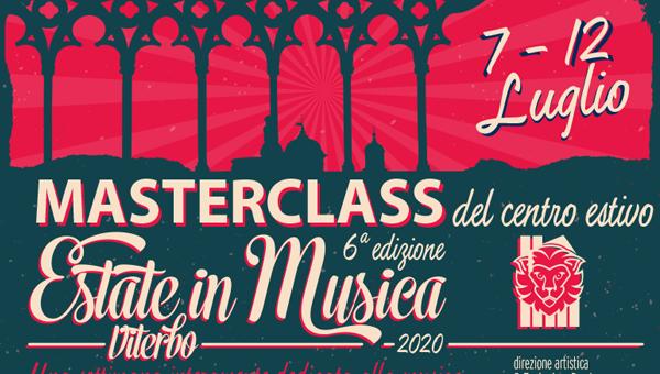 1 evidenza MASTERCLASS estate in musica 2020 600x340 - Estate in Musica 6a edizione - MASTERCLASS del Centro Estivo 2020