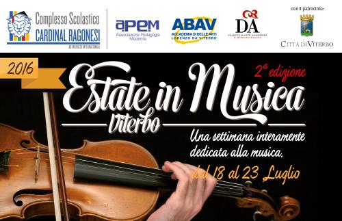 evidenza EstateinMusica 2016 Ragonesi - Estate in Musica 2016 •2a edizione • dal 18 al 23 Luglio