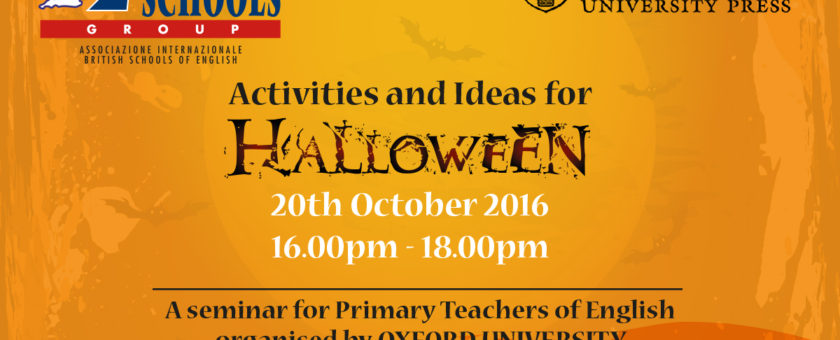 "news Halloween20th BRITISH Viterbo 840x340 - Seminario ""Activities and Ideas for Halloween"" Oxford University Press"