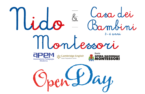EVIDENZA openday giugno nido - OPENDAY Sabato 9 giugno 2018 NIDO e Casa dei Bambini Montessori