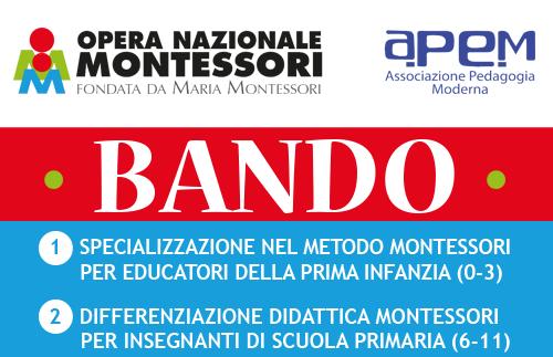 apem BANDOCORSI ONM 2018 cop - BANDO • Corsi Montessori Viterbo 2018/2019