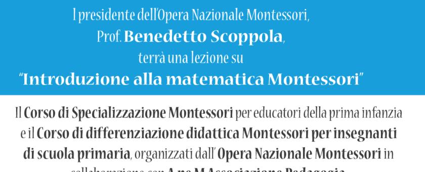 """FB MONTESSORI 1080 1080 novembre2018  840x340 - 24 novembre 2018 lezione su """"Introduzione alla matematica Montessori"""""""