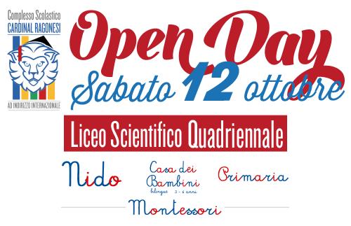 Evidenza 12ottobre2019 - OPENDAY Sabato 12 ottobre dalle 10:00 alle 13:00 - 2019 Liceo Scientifico/NIDO/Casa dei Bambini Montessori