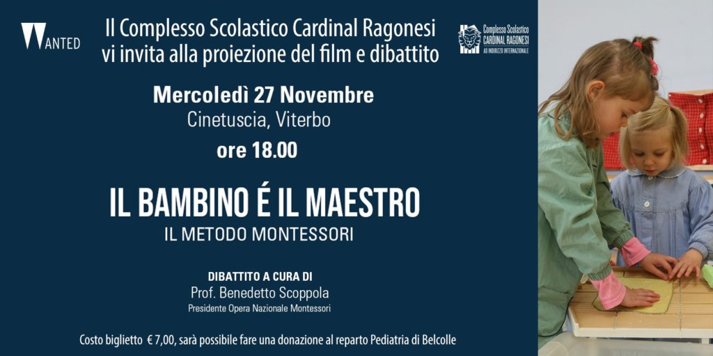 """INVITO cinema Montessori 1 1024x512 - Invitiamo alla visione del film """"Il bambino è maestro"""" Il metodo Montessori"""